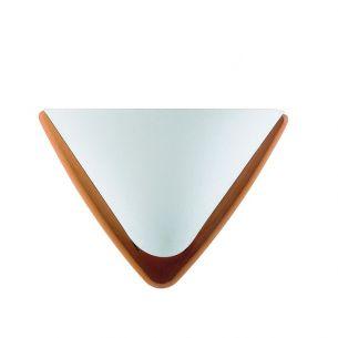 Design Wandleuchte mit Lunopalschirm und Echtholz Buche