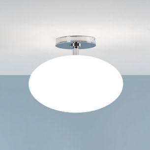 Badezimmer Deckenleuchte, Chrom, Opalglas 30 cm