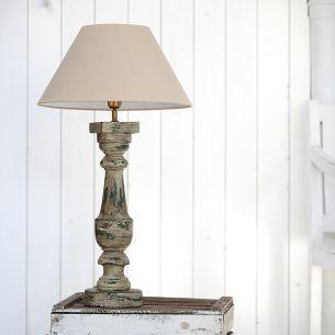 tischleuchte mit holzfu in old street und amberfarbenen schirm wohnlicht. Black Bedroom Furniture Sets. Home Design Ideas