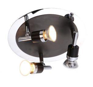 Deckenstrahler, 3 flammig, mit GU10 Leuchtmittel, auch LED und Energiespar  geeignet