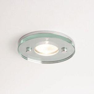 LED - Deckeneinbauleuchte rund - Klarglas - Chrom - Ø5,5cm