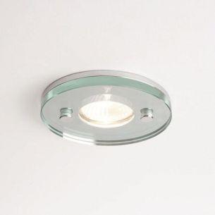 Deckeneinbauleuchte rund - Klarglas - Chrom