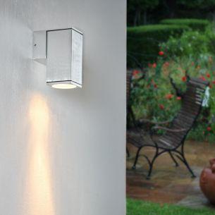 LED Wandleuchte Aluminium gebürstet mit LED 7W, 2700K warmweiß
