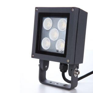 LED-Strahler für die Wand, 5 x 1 Watt, inklusive Erdspieß für flexiblen Einsatz