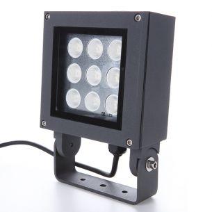 LED-Strahler für die Wand, 9 x 1 Watt, inklusive Erdspieß für flexiblen Einsatz