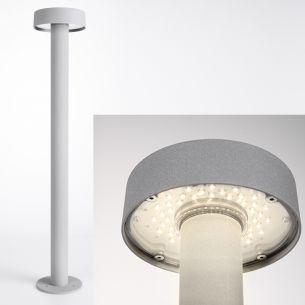 LED-Wegeleuchte aus Aluminiumdruckguss in Silbergrau, LED 48 x 0,1 Watt warmweiß