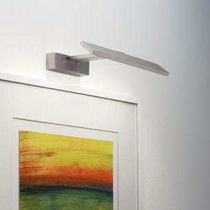 Moderne LED-Bilderleuchte - Nickel matt - Breite 30cm - inklusive LED 3x 1 Watt
