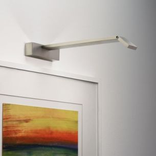 Moderne LED-Bilderleuchte  - Nickel matt - inklusive LED 3x 1 Watt