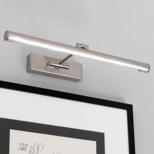 Klassische Bilderleuchte - 46 cm Breite - Inklusive LED-Strip 5 Watt - 2 Oberflächen - Nickel gebürstet oder Chrom