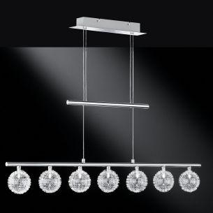 Moderne Pendelleuchte - 7-flammig - Höhenverstellbar - Chrom