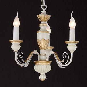 Kronleuchter handgearbeitet mit Blattgold veredelt, in 3, 5 oder 8 flammig wählbar