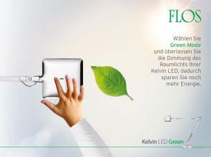 Design - LED Schreibtischleuchte KELVIN LED von FLOS - Aluminium - Schwarz, weiss oder anthrazit