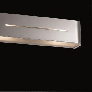 Wandleuchte Länge 36cm in aluminium gebürstet, chrom oder weiß erhältlich