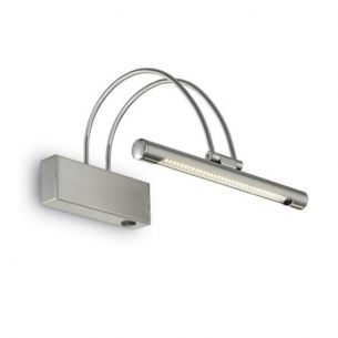 LED-Bilderleuchte Länge 26cm in Nickel, 35 LEDs je 0,07Watt neutralweiß stahlfarbig, Nickel, matt