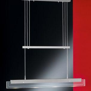 LED-Pendelleuchte im geradlinigen Design, höhenverstellbar, dimmbar