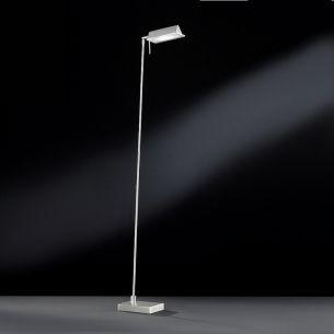 Moderne LED Leseleuchte - Nickel matt - 1-flammig - inklusive 1x LED 6,5W Lichtfarbe weiß