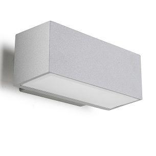 LED-Wandleuchte inklusive 8x1 Watt  LED-Leuchtmittel, IP65 aus Aluminium in grau oder anthrazit wählbar