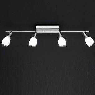 LED - Strahlerserie - Nickel matt - Deckenstrahlerbalken - 4-flammig