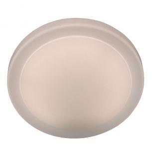 Deckenleuchte aus Kunststoff - ganz in Weiß - Durchmesser 29 cm