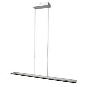LED-Pendelleuchte im Trend der Zeit - Stahl - Rauchglas - Höhenverstell- und dimmbar - 8-flammig