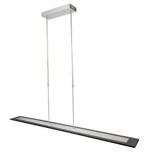 Zeitgemäße LED-Pendelleuchte - Stahl - Rauchglas - Höhenverstell- und dimmbar - 10-flammig