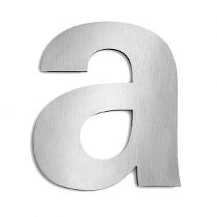Hausnummer a aus Edelstahl, groß a