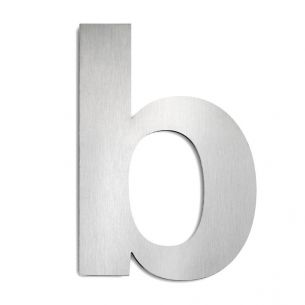 Hausnummer b aus Edelstahl, groß