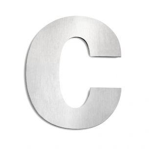 Hausnummer c aus Edelstahl, groß