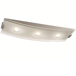 Raffinierte LED-Deckenleuchte - 3-flammig - Aluminium - Glas satiniert und klar