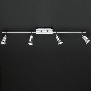 LED-Strahler in Chrom, inklusive 4x GU10, LED-Leuchtmittel, 3500K weißes Licht