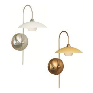 Stilvolle Wandleuchte 1-flammig - in 2 Farben: Bronze oder Stahl