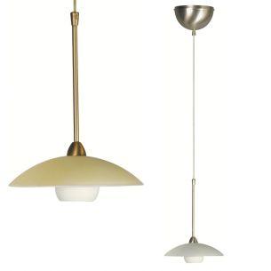 Stilvolle Leuchtenserie - Pendelleuchte 1-flammig - Stahl - Glas - 2 Farben - Bronze - Stahl