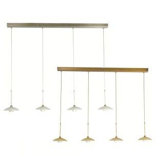 Stilvolle Leuchtenserie - Pendelleuchte 4-flammig - Stahl - Glas - 2 Farben - Bronze - Stahl