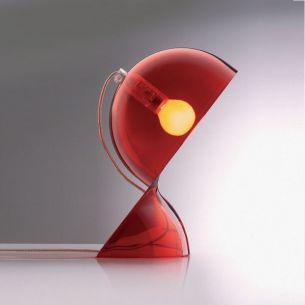 Artemide Dalù Tischleuchte Rot transparent, E14 max.25Watt 1x 25 Watt, rot/transparent