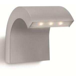Moderne LED-Aussenwandleuchte  - Aluminium - grau