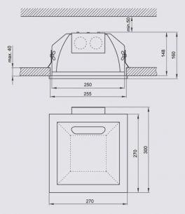 Energiesparende Decken-Einbauleuchte für den Innenbereich in Weiß oder Silber
