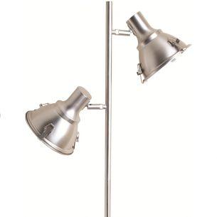 Moderne Leuchtenserie - Stehleuchte - 2-flammig - Mit 2 schwenkbaren Leuchtenköpfen - Stahl - Glas