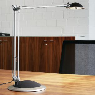 Moderne Halogen-Schreibtischleuchte - Aluminium - Silber - Gutes Preis-Leistungsverhältnis