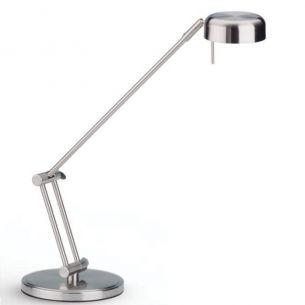 Aparte Halogen-Schreibtischleuchte - Stahl - silber - Dimmbar