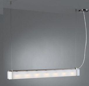 Modernes, sehr hochwertiges Leuchtenpendel - Glas und Chrom matt in zwei Größen lieferbar