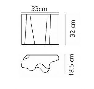 2x 52 Watt, 32,00 cm, 33,00 cm, 18,50 cm