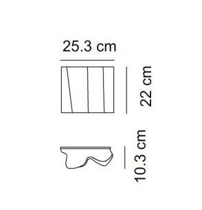 1x 52 Watt, 22,00 cm, 25,30 cm, 10,30 cm