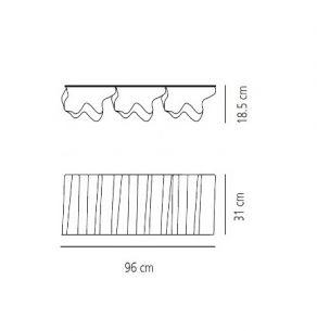 6x 52 Watt, 31,00 cm, 96,00 cm, 18,50 cm
