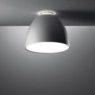 Artemide Nur Mini Soffitto Kompakt in Aluminiumgrau