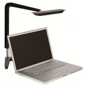 LED-Schreibtischleuchte speziell für Bildschirmarbeitsplätze - Dimmbar - Schwarz mit 4 x 1,2 Watt, Lebensdauer von ca. 40.000 Stunden, 81 Lumen/Watt