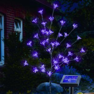 LED Solarleuchte Blütenstrauch mit Blink- oder Dauerlicht