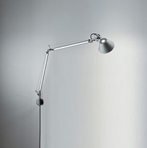 Artemide Tolomeo MINI LED Parete in Aluminum, mit Dimmer, inklusive 10W 480 lm LED 3900°K