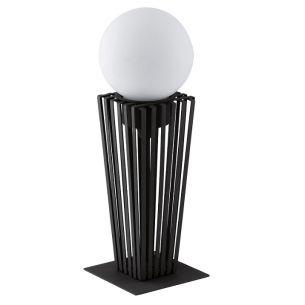 Dekorative Außenleuchte mit weißer Glaskugel - für Energiesparlampen - Höhe 57,5cm