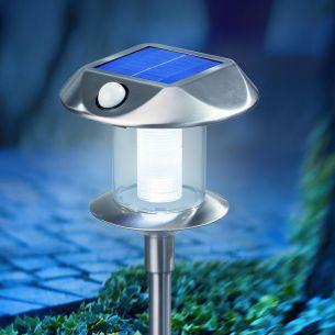 LED Solarleuchte mit Bewegungsmelder, Lichtfarbe kaltweiß 6500 K