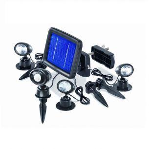 LED Solarspots für Wand oder Boden mit Bewegungsmelder, inklusive Erdspieße